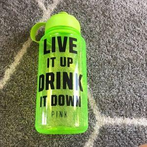 VS Victoria's Secret Pink Neon Yellow Water Bottle